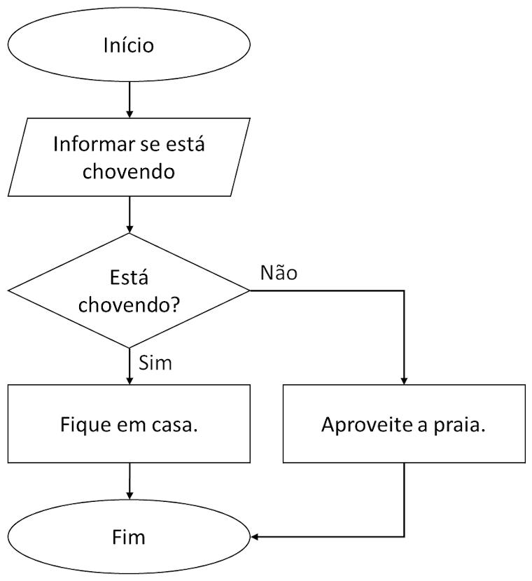 Figura 1 - Fluxograma mostrando um ponto de decisão