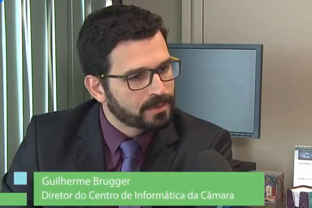 Guilherme Brügger D Amato Entrevista TV Câmara Lançamento Infoleg março 2016